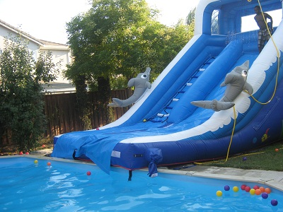 slide connect to pool - Inflatable Pool Slide